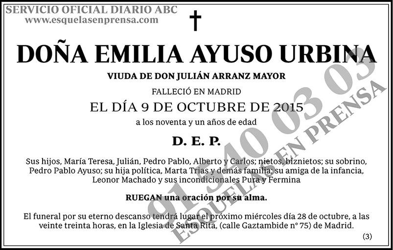 Emilia Ayuso Urbina